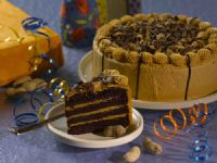 Peanut Butter Cup Triple Chocolate Cake